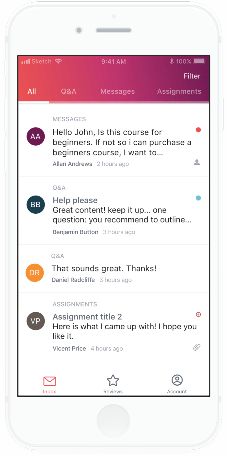 Udemy Instructor Messaging App